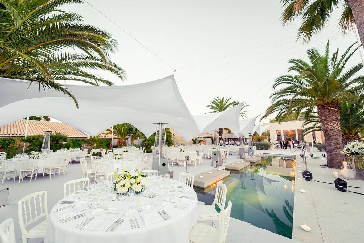 Mariage dans un hôtel de luxe à Saint-Tropez