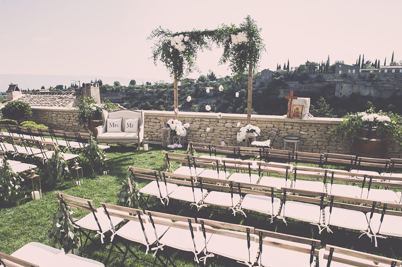 mariage en exterieur - outdoor wedding - provence- luberon