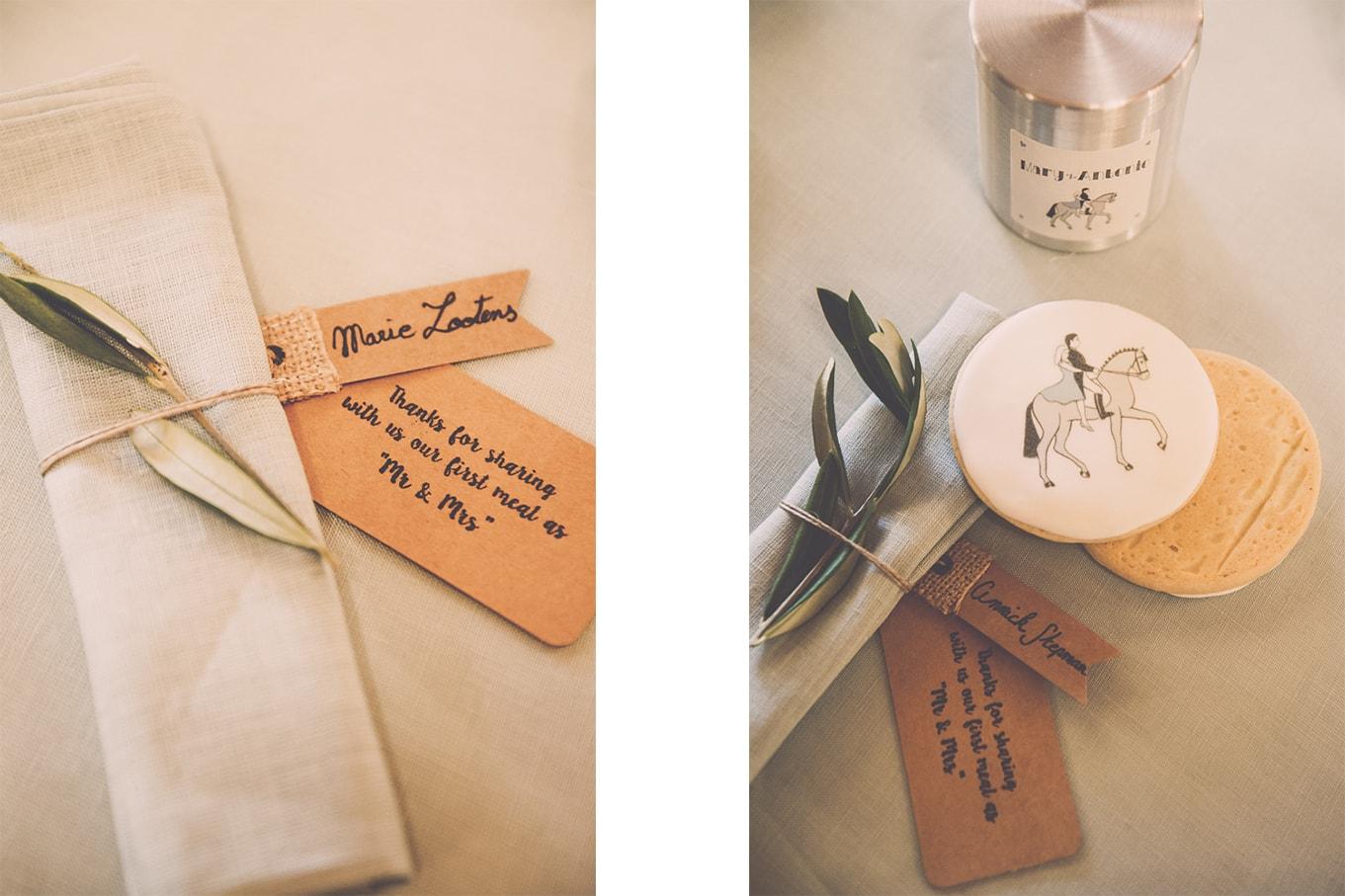 decoration de table - mariage chic en provence