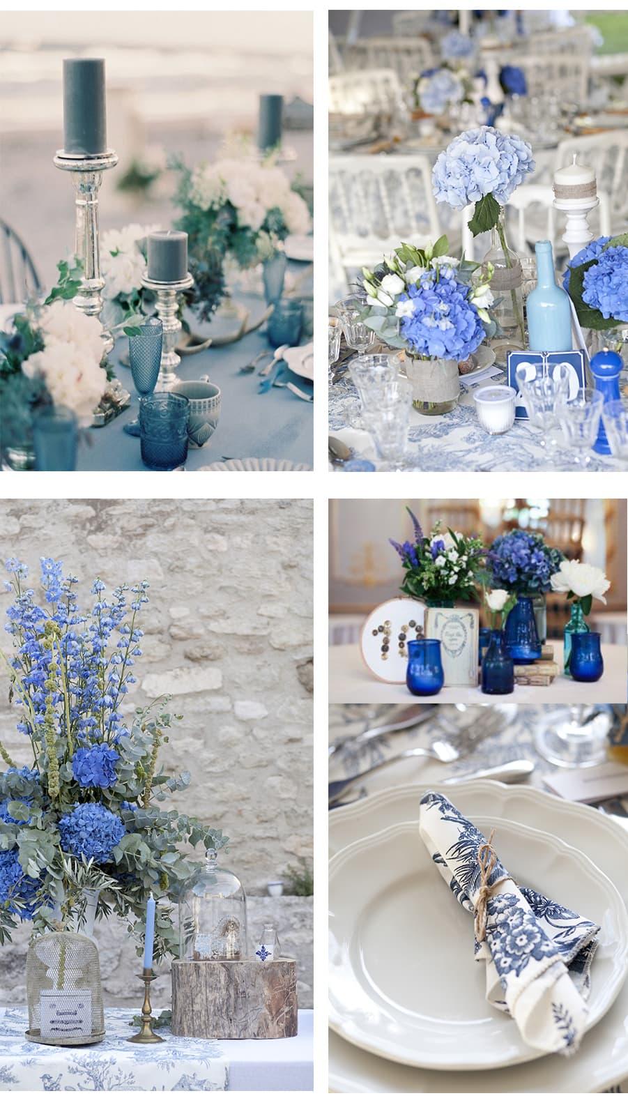 mariage luxe et boheme en provence en bleu
