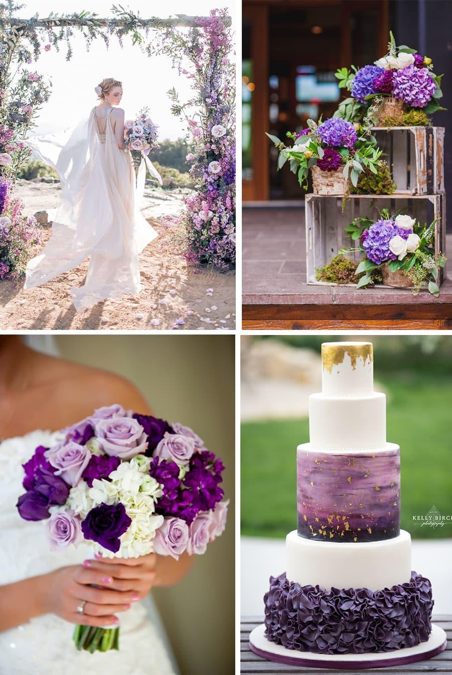 mariage chromatique violet